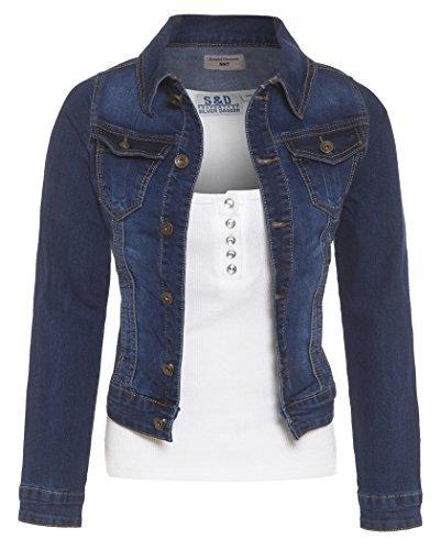 SS7 New Women's Denim Jacket, Indigo, Sizes 8 to 14 (UK - 14, Indigo)
