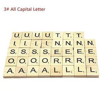 RanDal 100 Unids School Scrabble Tiles Cartas Cartas Boda Colgantes Craft Set Completo Decoración Suministros - 3#: Amazon.es: Industria, empresas y ciencia