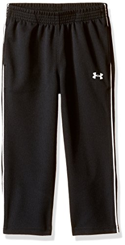 Under Armour Little Boys' Midweight Warm-Up Pant, Black, 7