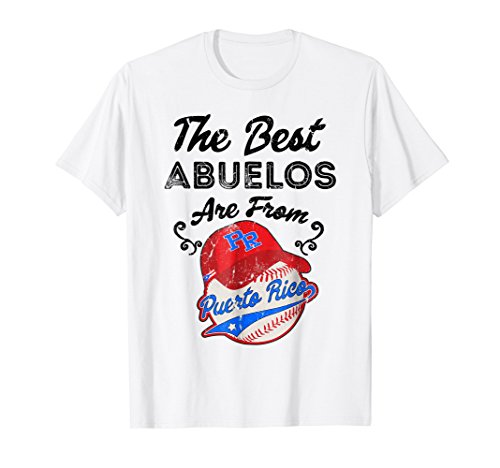 (Puerto Rico Shirt Baseball Best Abuelo Fathers Day Gift)