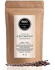 KIQO Cremoso 250g Premium Espresso Bonen uit Italië   laag zuurgehalte   15% Arabica & 85% Robusta Bonen (hele bonen, 250g)