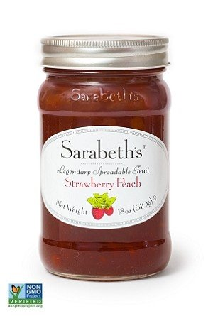 - Sarabeths Fruit Spread Strawberry Peach, 18 oz