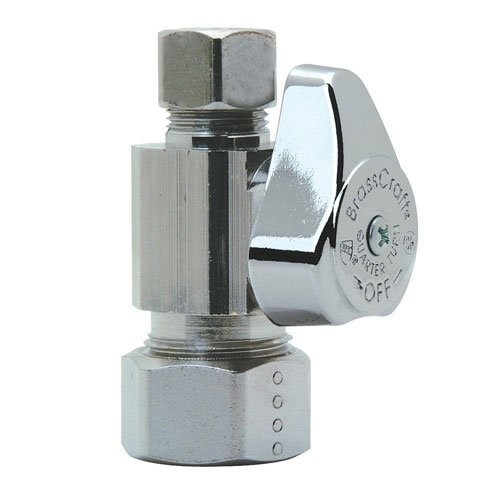 BrassCraft G2CR11X C1 1/4'' Nom Comp Inlet x 3/8'' O.D Comp Outlet 1/4-Turn Straight Valve