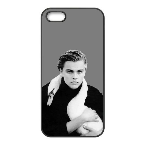 Leonardo Dicaprio 008 coque iPhone 5 5S cellulaire cas coque de téléphone cas téléphone cellulaire noir couvercle EOKXLLNCD25512