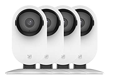 YI 4pc Home Camera, 1080p Wi-Fi IP Security Surveillance System with Motion Alert, Night Vision, Baby Monitor on iOS, Android App - Cloud Service Available