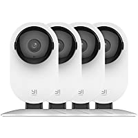 YI 4pc Home Camera, 1080p Wi-Fi IP Security Surveillance System with Night Vision, Baby Monitor on iOS, Android App - Cloud Service Available