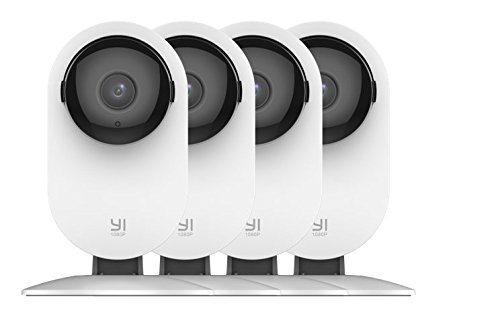 YI 4pc Home Camera, 1080p Wireless IP Security Surveillance System with Night Vision, Baby Monitor on iOS, Android App - Cloud Service Available ()