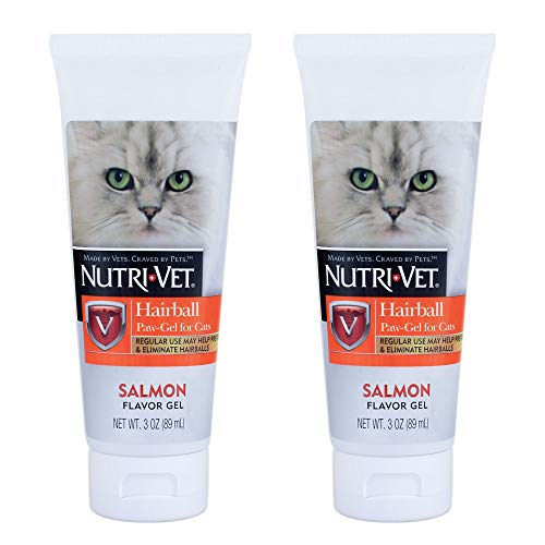 Cat Hairball Paw Gel 2 Pack Salmon Flavor Made in USA Total of 6 oz