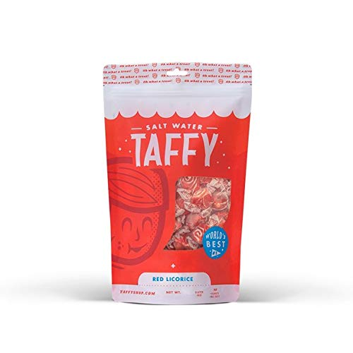 Taffy Shop Red Licorice Salt Water Taffy - 1/2 LB Bag
