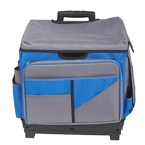 ECR4Kids MemoryStor Universal Rolling Cart and Organizer Bag Set, Blue ()