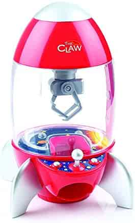 The Rocket Ship Claw Toy Grabber Machine with Multi-Color Light Display and Arcade Carnival Sounds