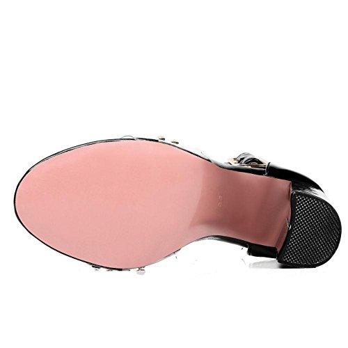 Strap Sandals Chaussures Femmes AicciAizzi Ankle Noir T1w6xqE