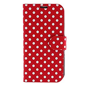 hello Stylish Dots Pattern PU Leather Full Body Case for Samsung Galaxy S4 I9500 (Assorted Colors) , White