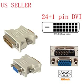 dvi-d (24+1) dual link male to vga hd15 female adapter