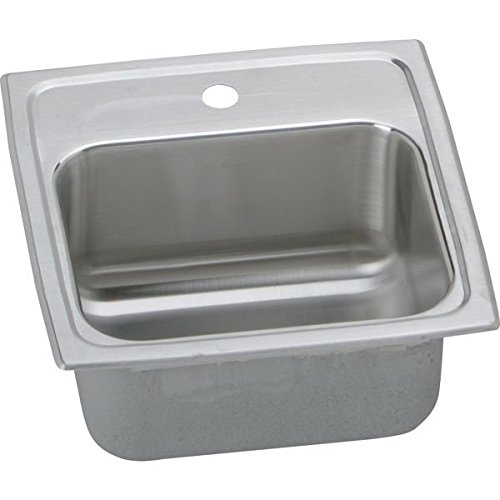 "18 Gauge Stainless Steel 15"" x 15"" x 7.125"" Single Bowl Top Mount Bar/Prep Sink - Elkay BLR15MR2"