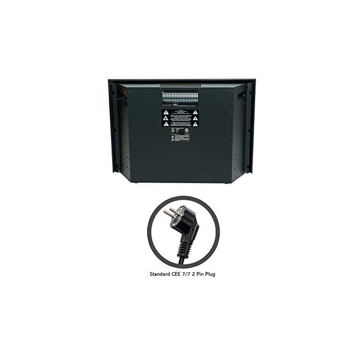 41rTJq9tRVL CONTROL REMOTO INFRARROJO con FUNCIÓN DE TEMPORIZADOR: lo mantiene cómodo y cómodo sin esfuerzo. El calor sopla desde la ventilación frontal que deja el calentador frío al tacto. LLAMA REALIZADA Y REGISTRO ARDIENTE - LED de bajo consumo añade un ambiente cálido y acogedor a cualquier habitación con o sin calor - Incluye niveles de brillo ajustables TERMOSTATO DIGITAL: con ajustes de calor alto y bajo más control de temperatura variable de 15°C a 30°C para una comodidad total