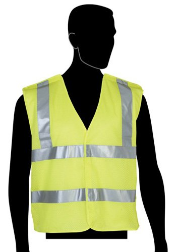 Liberty HiVizGard Polyester All Mesh Fabric 5-Point Break-Away Class 2 Safety Vest with 2