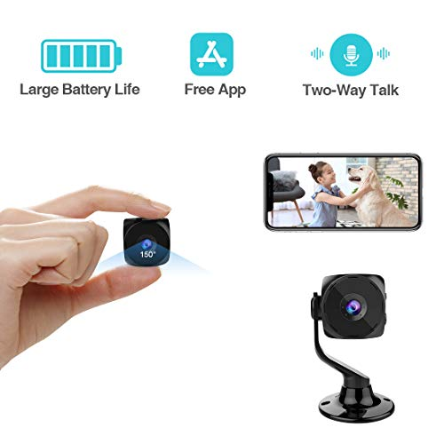[New APP] Puoneto Spy Camera Wireless Hidden Small Tiny Security Cameras 1080P HD Home Mini WiFi Nanny Cam with Talk Two Way Night Vision Indoor Motion Detection Covert Surveillance Video Camera