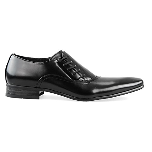 Slip ONE Plain Toe Dress Mpt125 strap Oxford 6 Brown On Monk Black up toe Shoes Mens Plain Formal Lace Side MM Black 6qOdSq