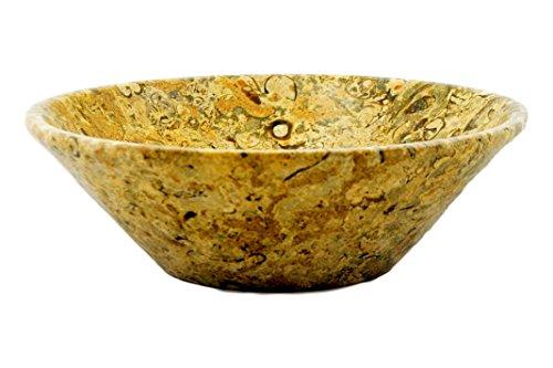 Nature Home Decor W5FS Fossil Stone 9.5-Inch Decorative Modern Design Bowl