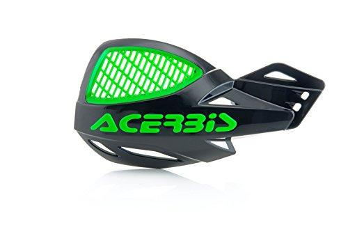 Acerbis Uniko MX Vented Handguards (Black/Green) (Gaurds Mx Hand)