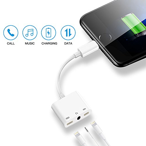 iphone 7 7plus 8 8plus x adapter 3 in 1 dual lightning 3. Black Bedroom Furniture Sets. Home Design Ideas