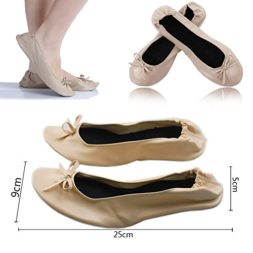 Zapatos Negro WSS Plano con Warehouseshop GB Vuelta 6 C Plegable 39 EU 5 Mujer 76x5wqB