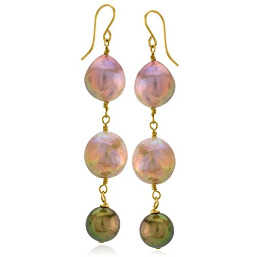 Pearl Earrings Honora (Fireball Pearl Earrings)