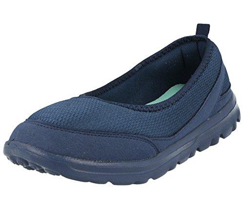 Semelle Confortables Chaussures T Ella Plates Tissu Maille Femme De À 35 Ballerines Navy Forme Pour 41 Taille Mémoire En Mousse qrXBIr