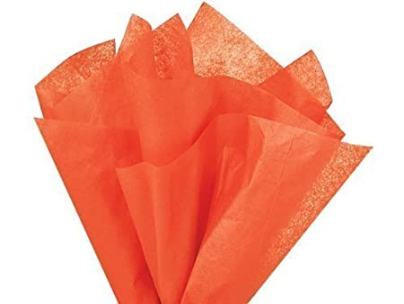 1 X Bulk Tissue Paper Orange 20 30 - 48 Sheets
