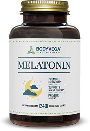 Melatonin Time Release Tablets, Fast Dissolve, 240 count, by BodyVega