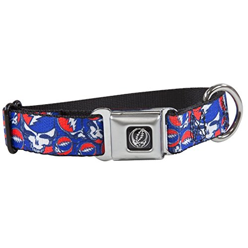 Grateful Dead - Steal Your Face Stacked Dog Collar - Large Multicoloured
