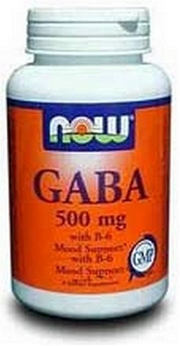 NOW Foods Gaba 500 mg, 100 Capsules (pack de 2)