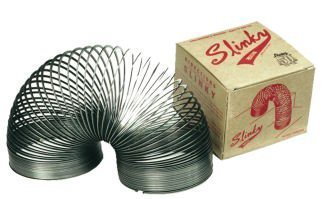 Slinky Collector (POOF Slinky Collector's Edition Metal Original Slinky, Set of 12, Black.)