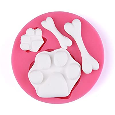 KookieMonsta Dog Bone Shapes Cupcake Top Decoration Small Pastry Mold for Cake Decoration
