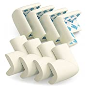 Baby Safety Corner Protectors - PRE-TAPED Edge Guard Cushion, 8 PACK, OFF WHITE