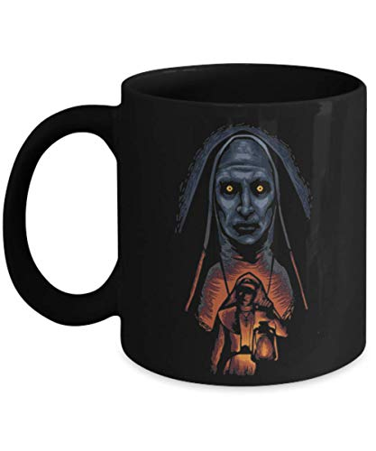 (Nun Valak Funny Halloween Day Mug Coffee Cup TeaMugs, Great Gift for Halloween day, Halloween Gift Idea for Her, Girls, Women, for Wife, Mom,)