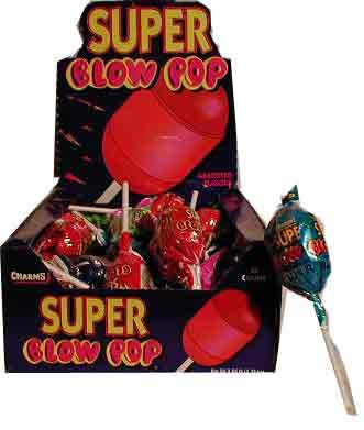Charms Super Blow Pops (Blo Pops) Lollipops (Blo Pops)