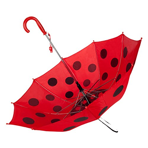 Kid's Fun Adorable Red Ladybug Animal Easy-Open UV Protection Whistle Umbrella by Roxie (Image #2)