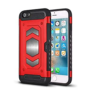RaG&SaK Water Proof Magnetic Mount armour Case for Iphone 6- Red