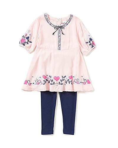 Outfit Flapdoodles Girl (Flapdoodles Pretty Pink Hearts Dress & Leggings (4))