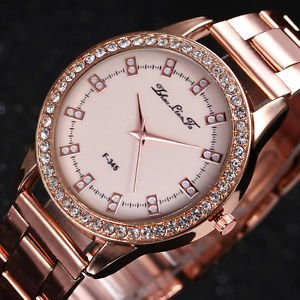 d19c658151d Image Unavailable. Image not available for. Colour  SLB Works Brand New  Luxury Rose Gold Ladies Watches Women Softech ...