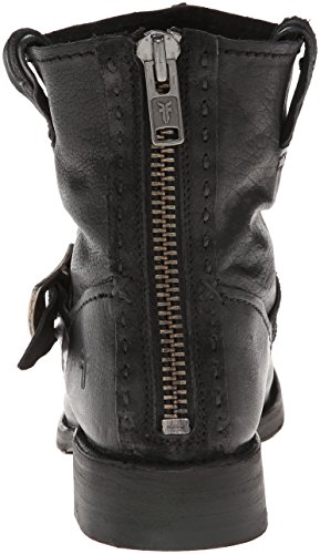 Scarpa Vicky Artisan Back-zip Nera Da Donna Di Frye
