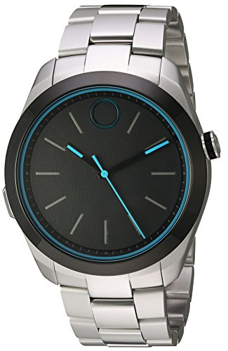 - Movado Swiss Quartz Stainless Steel Smart Watch, Color: Silver-Toned (Model: 3660003)