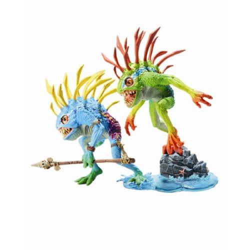 World of Warcraft Series 4: Murloc Action Figure 2-Pack: Fish-eye and Gibbergill - Colors May Vary