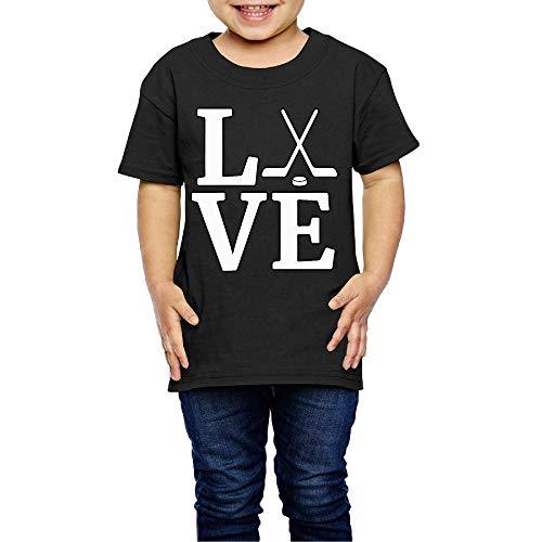 Love Ice Hockey Costume Kids Crew Neck Short Sleeve Shirt T-Shirt for 2-6 Toddlers ()