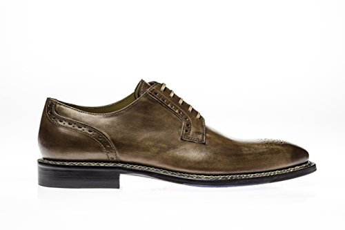 Jose Echte Schoenen Nordve Collectie | Cuoio | Heren Oxford Tan Echt Echte Italiaanse Lederen Jurk Schoen Tan
