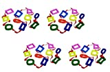 Excellerations Shapes Walking Rope for Kids Classroom Supplies(14 1/2' Long) (4 Pack)