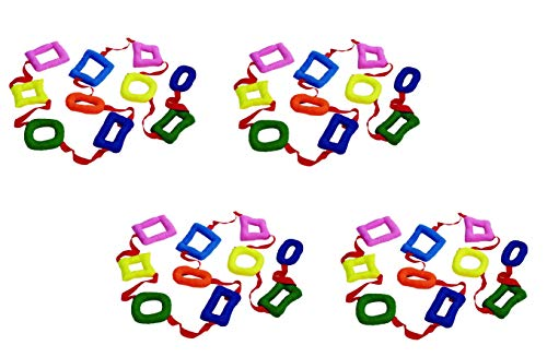 Excellerations Shapes Walking Rope for Kids Classroom Supplies(14 1/2' Long) (4 Pack) by Excellerations (Image #1)