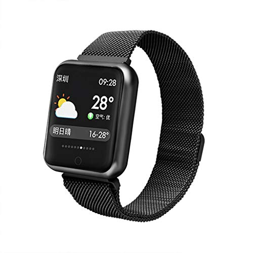 FEDULK Smart Watch Heart Rate Blood Pressure Monitor Sports Fitness Tracker Bracelet Bluetooth Smart Wristband(Black) ()